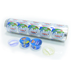 food packaging plastic aluminum foil sealing lids roll film laminating yogurt lid material