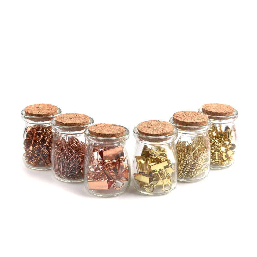 Bottle Packaging Different Size Shaped Rose Gold Paper Clips