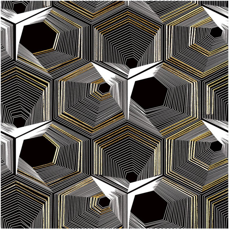hot selling Water jet Mosaic Tile Water jet design black porcelain tiles new water jet pattern decor tile