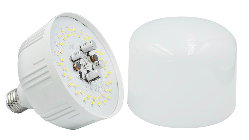 उच्च शक्ति प्रकाश 5W 10W 15W 20W 30W 40W 50W टी आकार प्लास्टिक एलईडी बल्ब