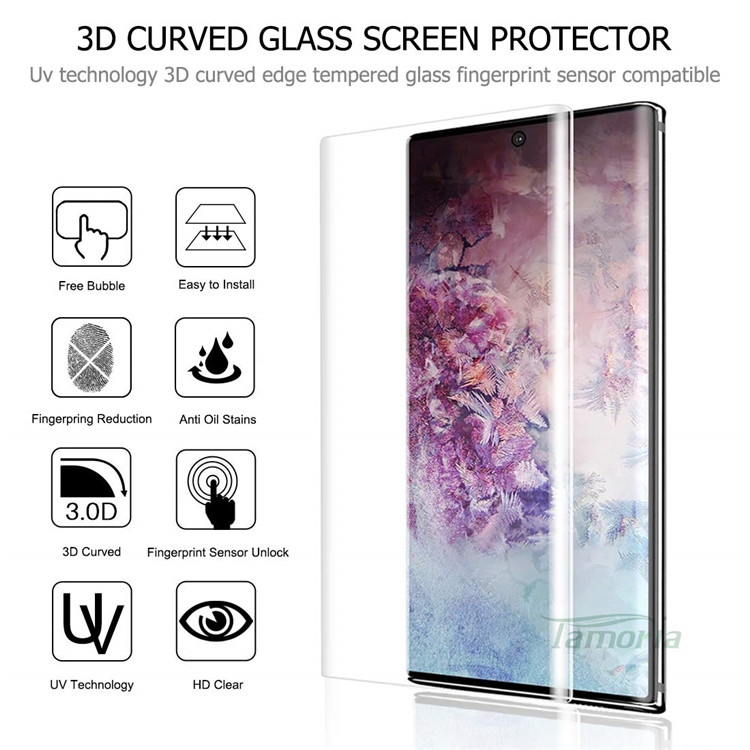5D Curved Screen Protector for Samsung S8 S10 Plus Note 10 Plus Mobilephone Lcd Film