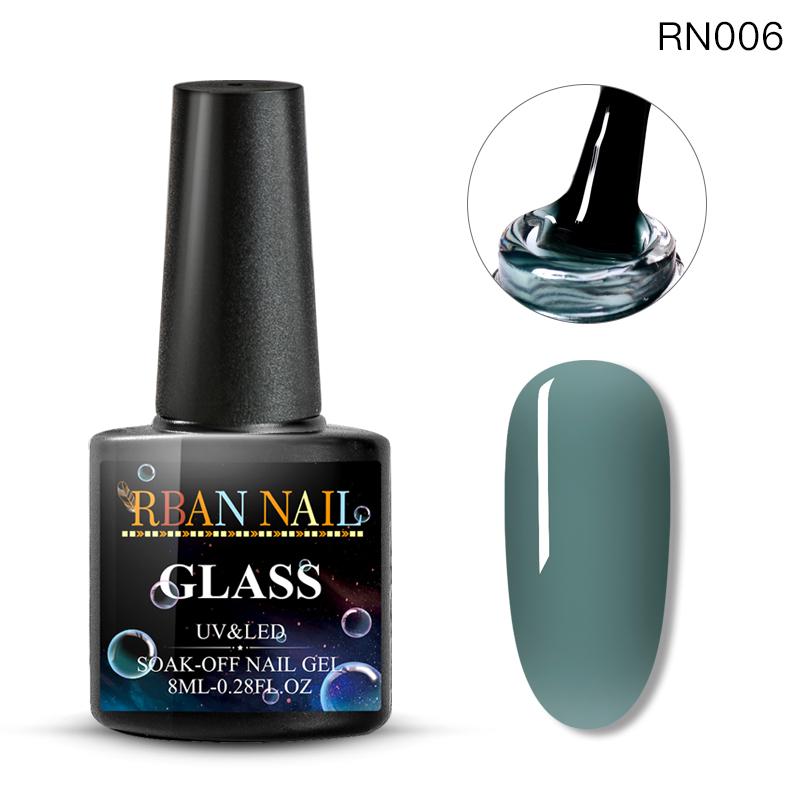 RBAN ногтей 8 мл конфеты желе гель неоновый лак для ногтей Sock Off длительный полупрозрачный лак УФ гель маникюрные инструменты для ногтей(Китай)