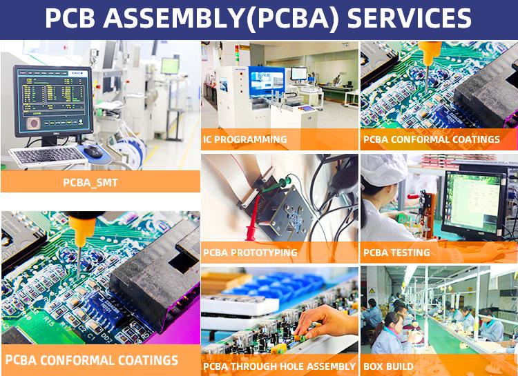 Benutzerdefinierte elektronische leiterplatte turnkey service multilayer pcba montage pcb hersteller
