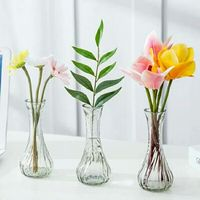 FDA certificated Decorative Luxury Modern Mini Crystal Glass Flower Vase
