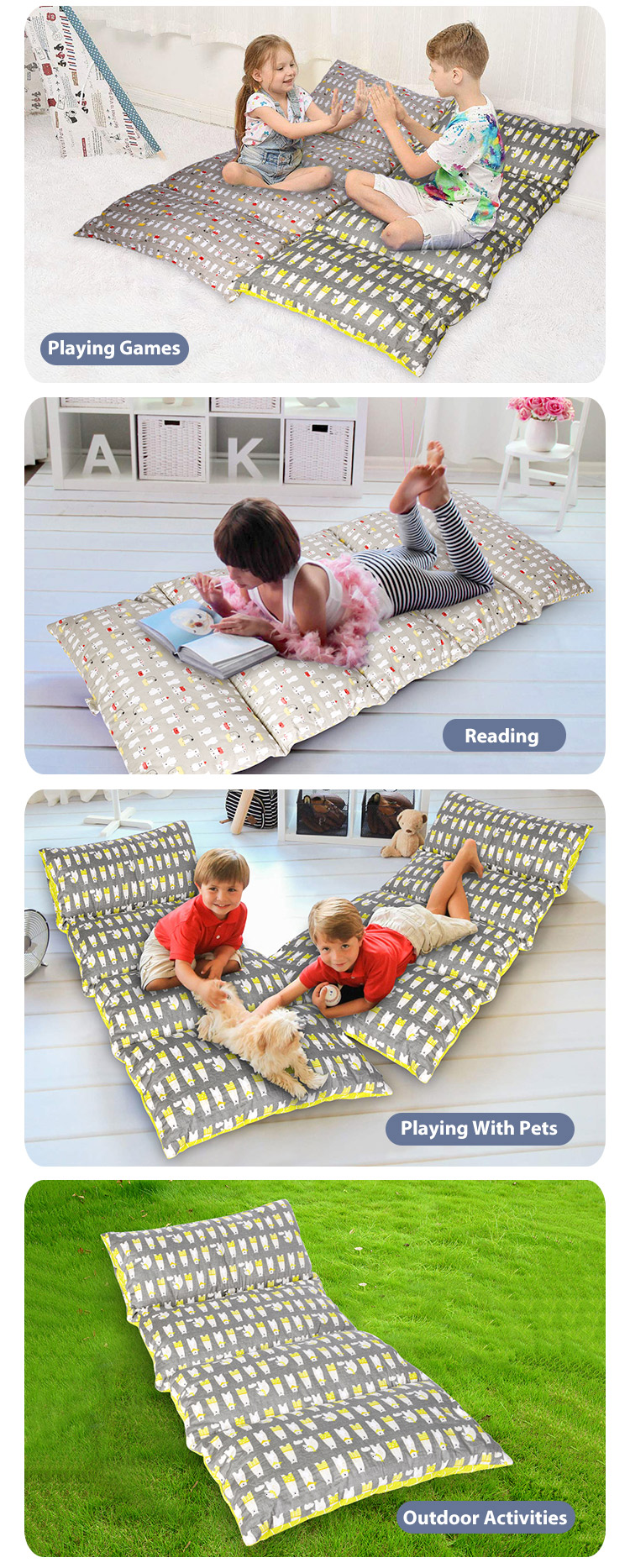 Shinnwa Kid S Floor Pillow Bed Mattress Portable Toddler Children For Reading Playing Buy Pillow Bed Toddler Children Pillow Bed Floor Pillow Bed Product On Alibaba Com