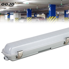 2ft 4ft 5ft 120lm 60W waterproof linear led batten lights ip65 tri proof 40w