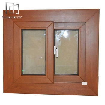 Teeyeo Woodgrain PVC Window Sliding Window PVC High Quality Plastic Window