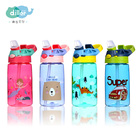 500ml custom bpa free flip straw clear sports cartoon tritan plastic kids drinking water bottle for kids