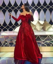 Sevintage 2020 красные платья знаменитостей с открытыми плечами, вельветовое платье с длинным рукавом и красной ковровой дорожкой, вечерние плать...(Китай)