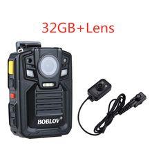 BOBLOV HD66-02 64 Гб HD 1296P Ambarella камера тела носимый 2,0 LCD HDMI полицейская мини камера видео рекордер мини камера тела(Китай)