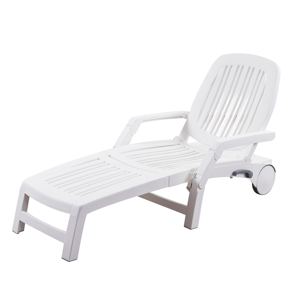 - Outdoor Beach Swimming Pool Sunbed Plastic Folding Lounge Chair