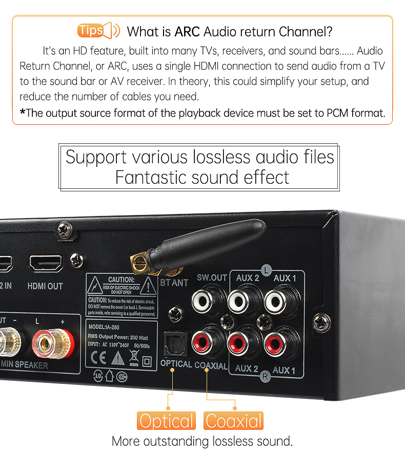 AV-280HD قسط عالية الطاقة المنزل مكبر للصوت