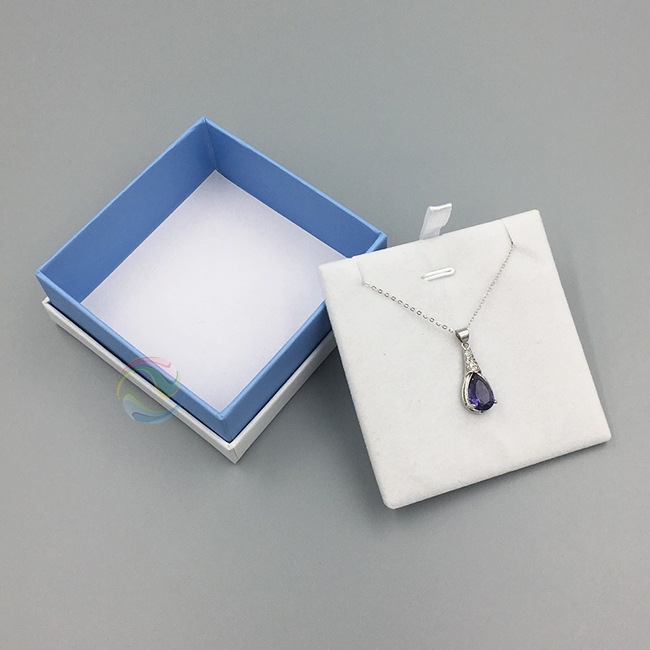 Cheap Eco Friendly White Custom LOGO Paper Jewelry Packaging for Necklace