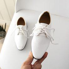 Новые детские Свадебные модельные туфли из натуральной кожи для мальчиков, брендовые черные свадебные туфли для мальчиков 2020, официальные ...(China)