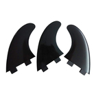 white color G5 Surfboard fins plastic Tri fins medium 3pcs a set