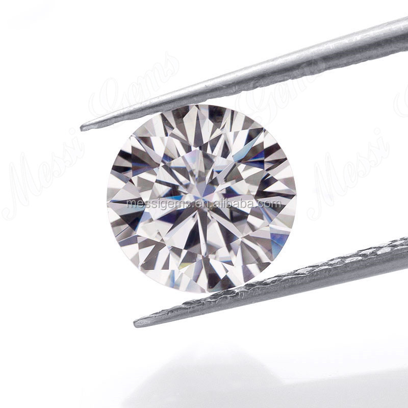Messi gems huge stock loose gems round def color moissanite for jewelry