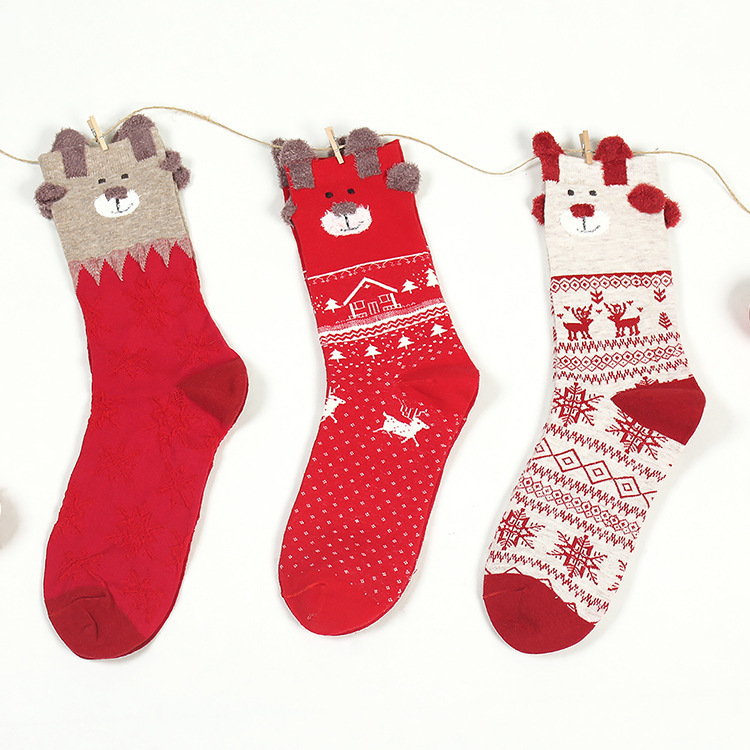 Kids loves Hot Selling cute socks new products Christmas Sock