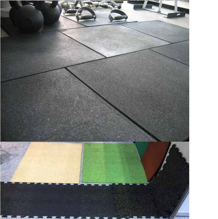 GYM rubber flooring /rubber floor mats for fitness /recycled rubber tile  Indoor safety interlocked foam soft EPDM puzzle mat