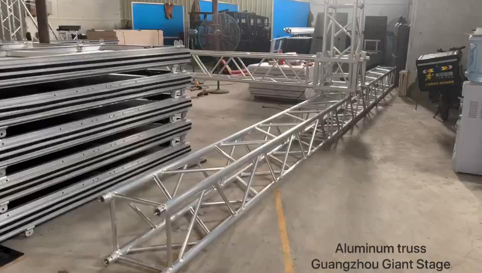 Caixa de alumínio truss treliças de dobramento evento arch telhado travessas para venda