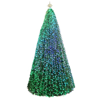 Factory Direct 4M 6M 8M 10M 15M Pre-Lit Colorful Lighting PVC Giant Artificial Christmas Tree Outdoor