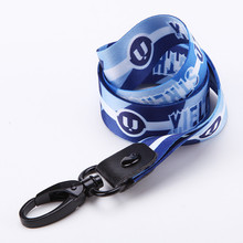 Fabrik Schwarz Thumb Trigger Nylon Polyester Sublimation Strap Neck Lanyard für ID Abzeichen Halter Telefon Whistle <span class=keywords><strong>Key</strong></span>
