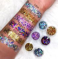 Make Up Holographic Face & Body Chunky Glitters for Festival