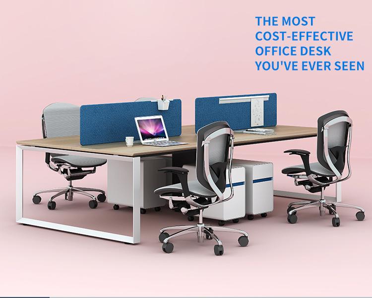 DIA serie Oficina cubículo estación de trabajo de escritorio de oficina para 4 personas