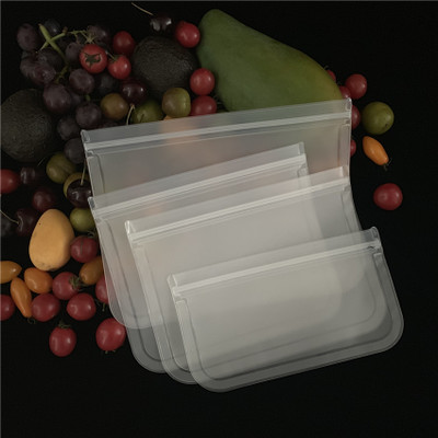 FDA Grade Leakproof Reusable Storage Bags PEVA Ziplock Bags with  Lunch Sandwich, Food Snacks