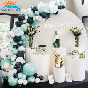 NAXILAI Hot sales acrylic backdrop wedding round stage decoration Pretty acrylic backdrop round And backdrop acrylic