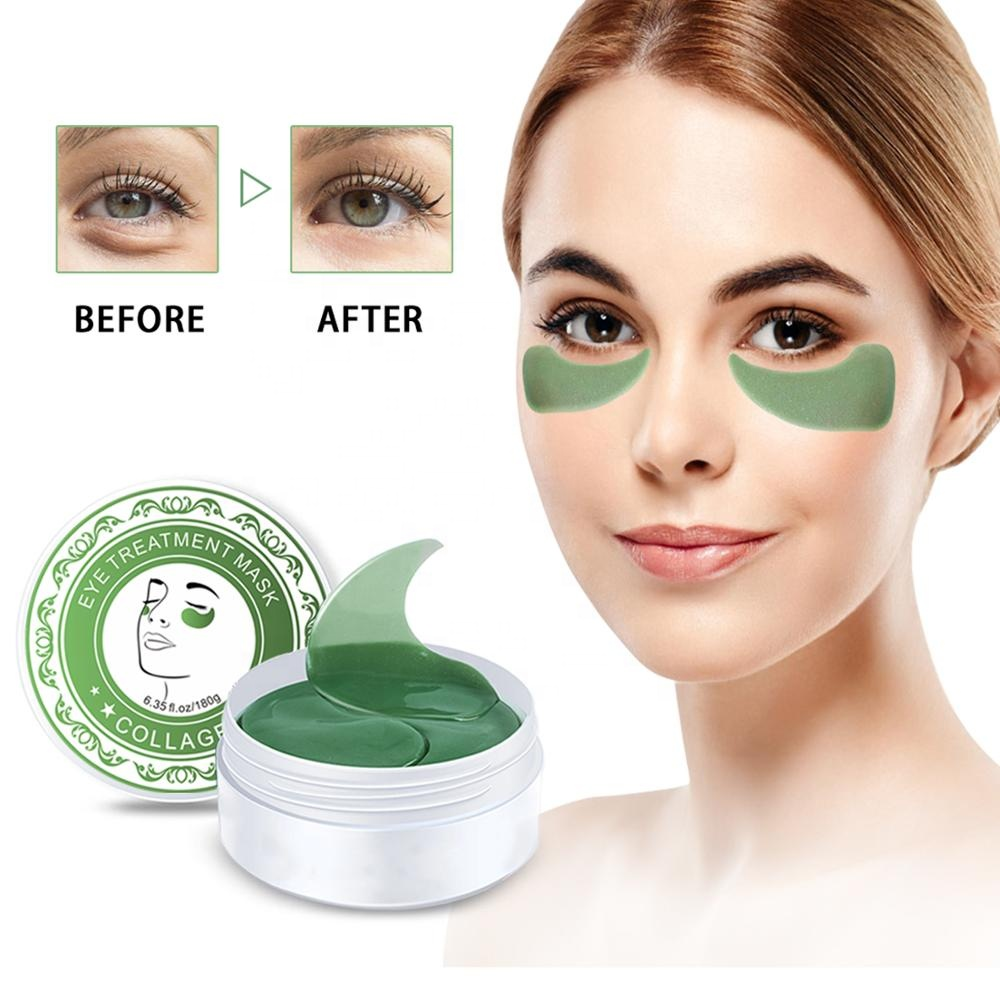 Collagen Gel Eye Mask Sheet for Eye Bag Dark Circles Fine Lines Anti Aging Crystal Eye Pad Mask for Firm Smooth Skin 60 pcs
