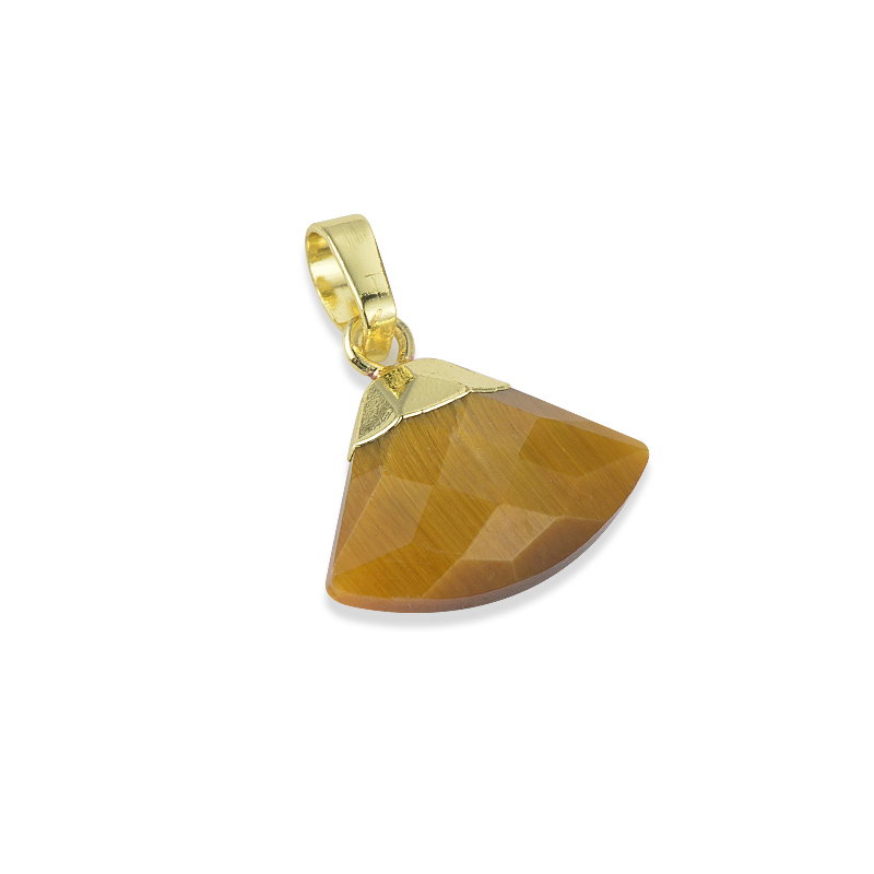 Natural Stone Rough Crystal Hexagonal Prism Gold Platinum Planted Color Pendant Brass Bangle Bracelet Jewelry
