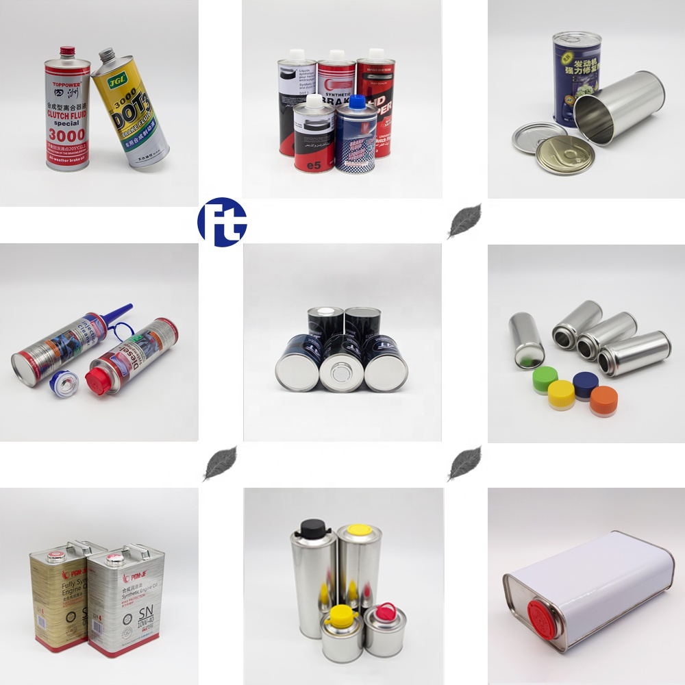 2019 hot sales 100ml round chemistry tin cans with 32mm plastic funnel aerosol spout cap