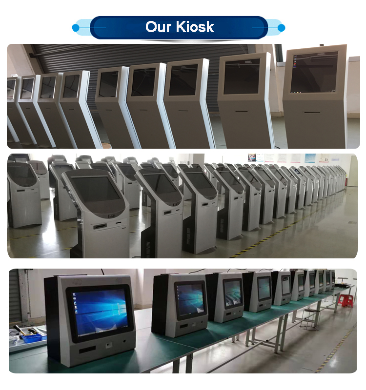 Customized design self service check-out  kiosk with card dispenser in hotel