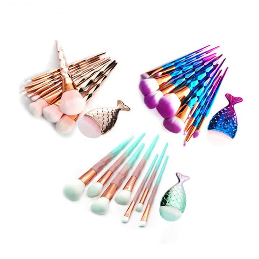 <strong>High</strong> <strong>Quality</strong> Luxury colorful <strong>makeup</strong> <strong>brush</strong> 11 Piece Personalized Mermaid <strong>Makeup</strong> <strong>Brush</strong> Set