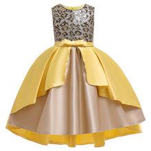 2020 платье для маленьких девочек детское платье вечерние платья для девочек с леопардовым принтом и блестками на свадьбу, платье для маленьк...(China)