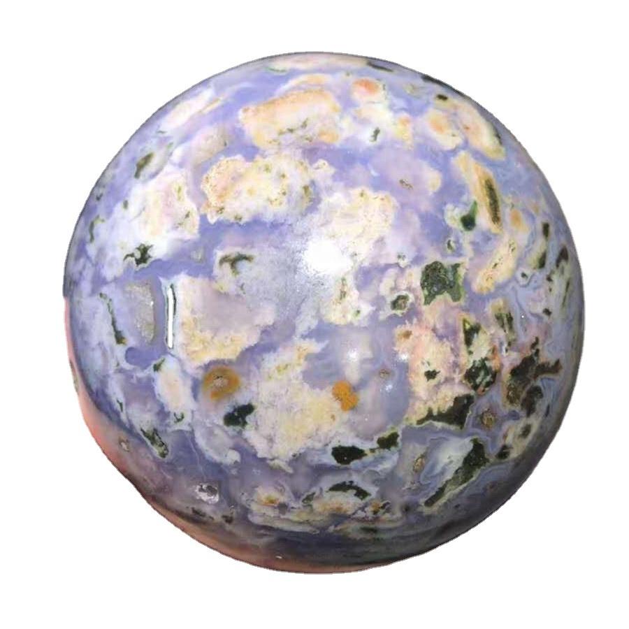 Natural Ocean Jasper Polished Quartz Crystal Stones Ocean Jade Stone Spheres Balls