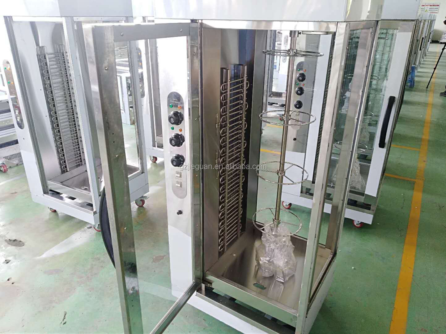 Commercial gas vertical rotary Chicken rotisserie EB-206