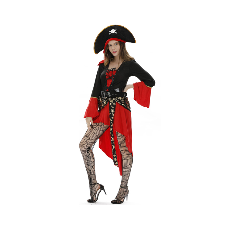 YHWSJ258 Factory Wholesale Sexy Female Pirate Adult Women Halloween Costumes