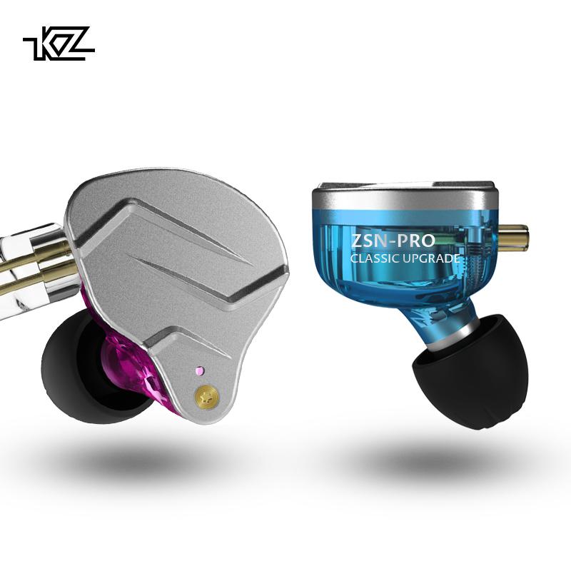 KZ ZSN PRO 1DD+1BA Hybrid HIFI Stereo Sound In Ear Monitor Sport Earphones Earbuds Headset with mic KZ earphone ZST ZS10 AS10 фото