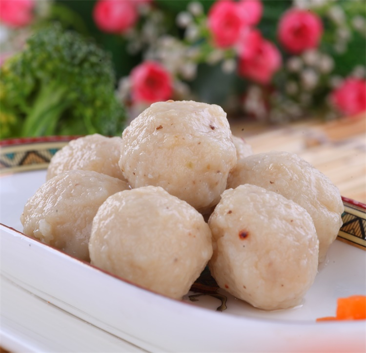 New arrival frozen food mushroom flavor surimi ball for soup and hotpot