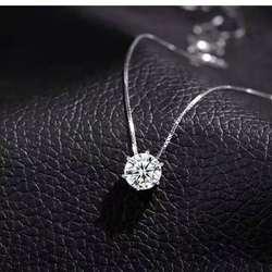 2021 Korean Fashion Crystal Necklace Geometric  Cu