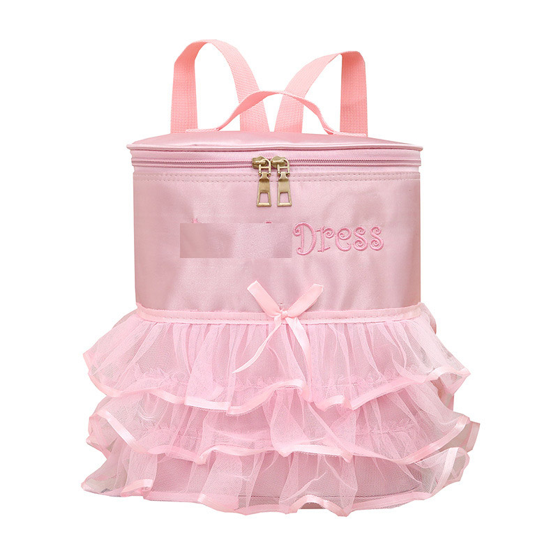 custom design Lace nylon material travel Latin dance bag for girls
