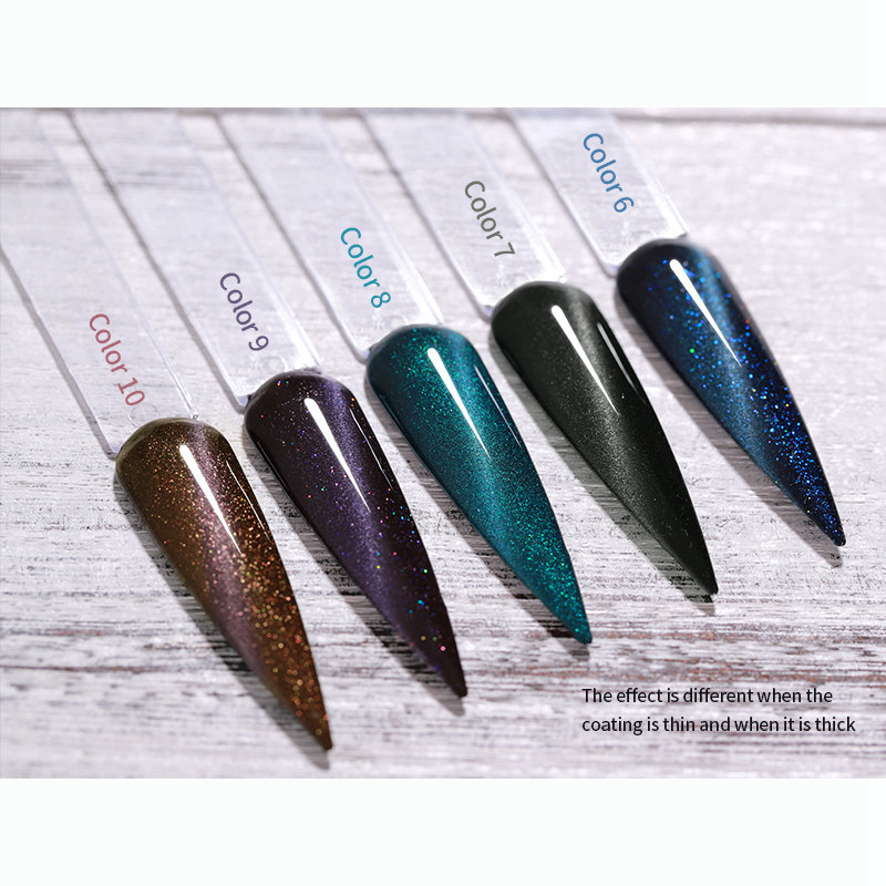 Glitter Cat Eye Gel Nail Polish High Gloss Galaxy 15 Colors Magnet Professional UV Nail Manicure Private Label Factory-F2-0154