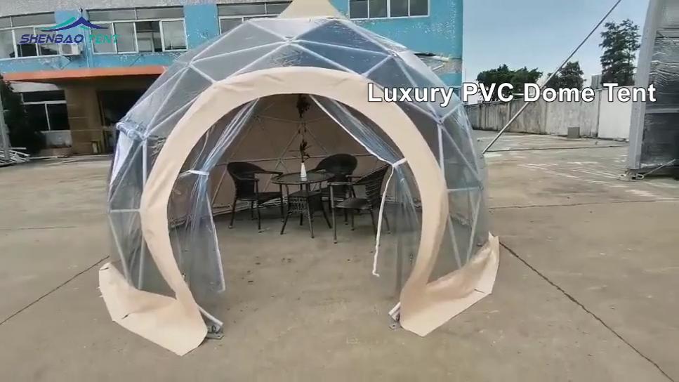 نوعية جيدة سعر المصنع البلاستيكية الفاخرة قبة خيمة في الهواء الطلق فندق التخييم للبيع