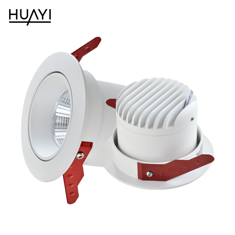 HUYAI Cheap price hot sale aluminum 7watt 12watt 18watt indoor recessed mounted led spot lamp