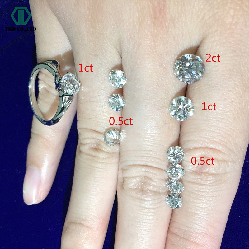 1ct Farbe D Klarheit VS Mann made Lose Diamant Ringe
