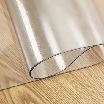 YiWu Agent Transparent clear pvc table cover embossed plastic vinyl tablecloth