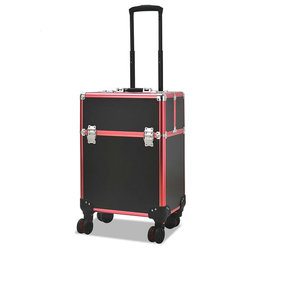 Fashion Style Retail Portable Trolley Aluminum Alloy Makeup case