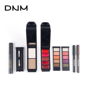 Dnm Gradual Eye Shadow Mascara Eyeliner Lipstick Concealer Air Cushion Matte Pearlescent Lazy Makeup Set Brush