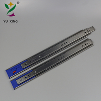 Stainless steel ball bearing soft close drawer channels slide rail